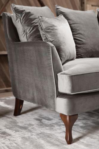 Marlena Sofa silver Velvet