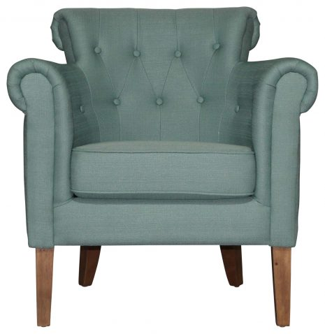 Block & Chisel Occasional Chair Upholstered Rubber Wood Legs
