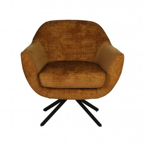 Swivel velvet occasional chair