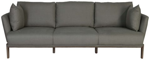 Block & Chisel grey upholstered sofa with beech wood legs
