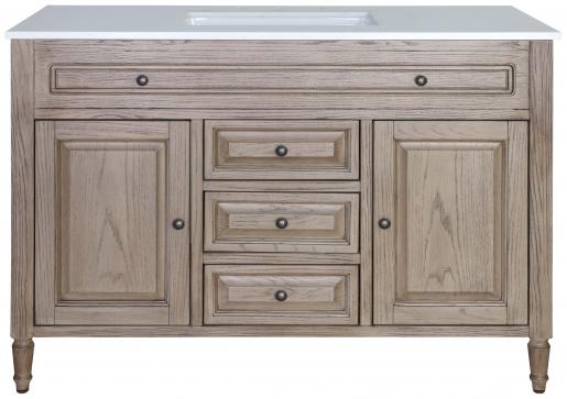 Block & Chisel beech wood vanity