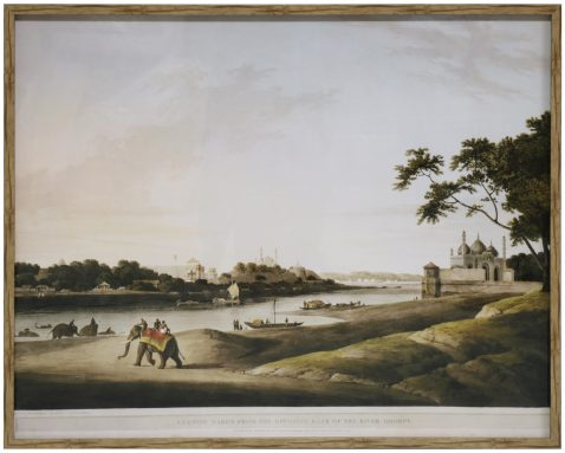 Block & Chisel framed india scenery print