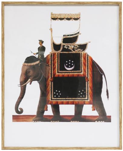 Block & Chisel framed elephant print