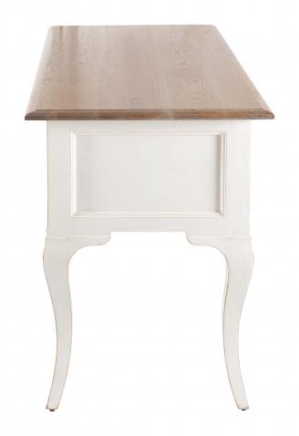 Block & Chisel weathered oak desk with antique white base