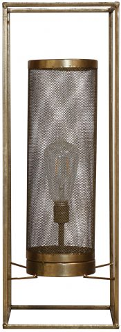 Block & Chisel metal lantern with antique gold finish