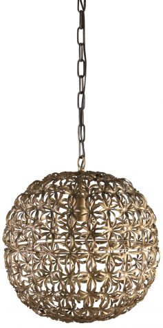 Block & Chisel metal chandelier with antique gold finish