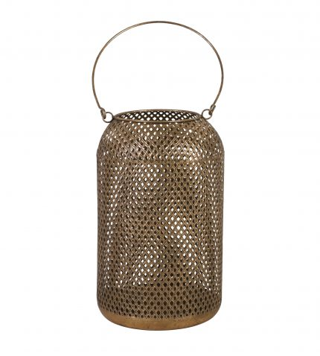 Bronze mesh lantern with handle