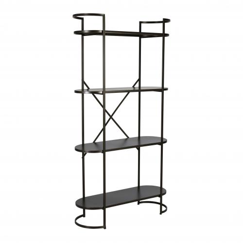 Ferndale industrial metal shelf narrow