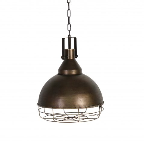 Harmon metal round cage hanging light
