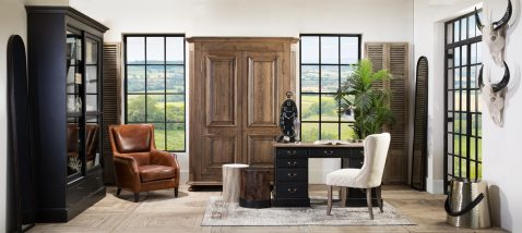 Block & Chisel solid antique weathered oak armoire