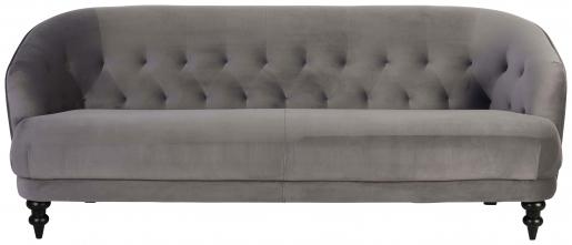 Block & Chisel old grey upholstered velvet sofa