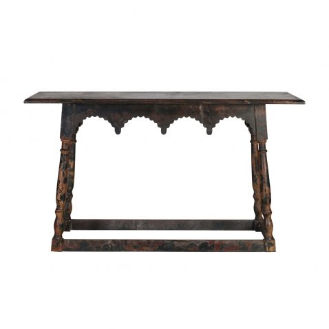 Elizabeth Crown Console, African inspired wooden console