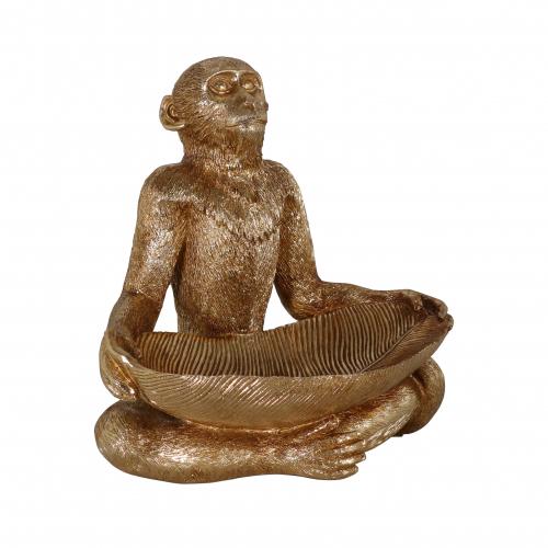 Gold resin monkey