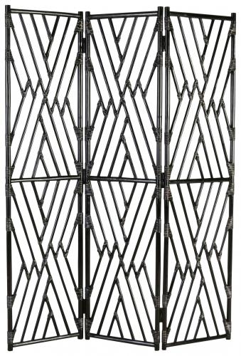 Block & Chisel black rattan foldable screen
