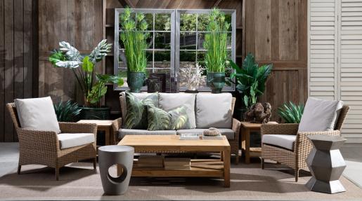 Block & Chisel square teak wood side table
