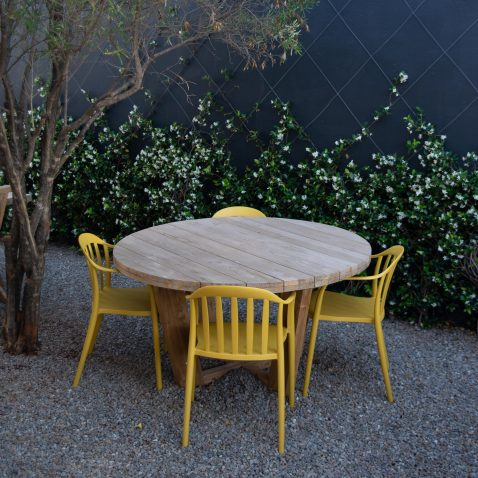 Yellow Outdoor PVC Dining Chair