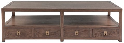 Block & Chisel rectangular solid antique weathered oak coffee table