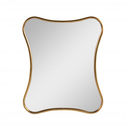 Monroe Mirror - Curvy brushed gold frame