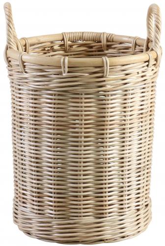Block & Chisel round kubu rattan basket with handles