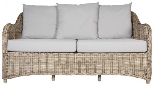 Block & Chisel rattan outdoor 2.5 seater sofa