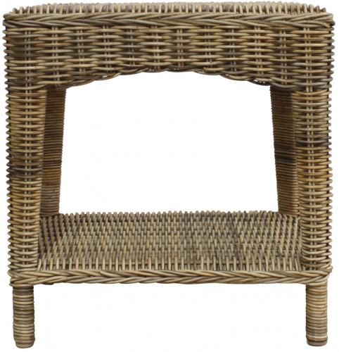 Block & Chisel square rattan side table