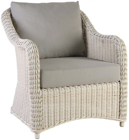 Block & Chisel rattan lounge chair