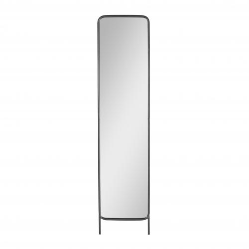 Metal framed mirror tall