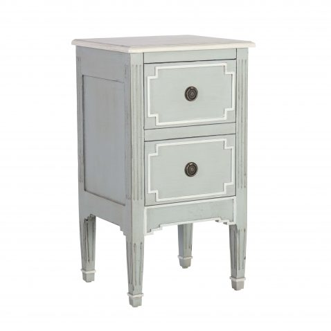 2 drawer painted bedside