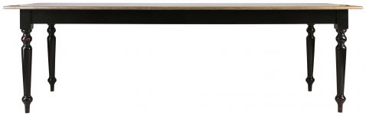Block & Chisel rectangular dining table with matt black base