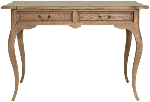 Block & Chisel solid antique weathered oak writing table