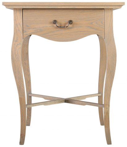 Block & Chisel french solid grey washed oak bedside table