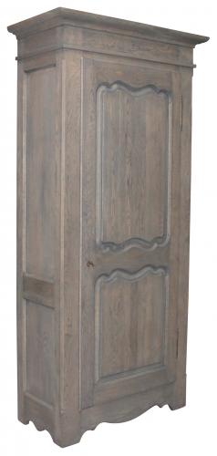 Block & Chisel single door solid railway oak wardrobe