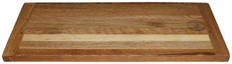 Block & Chisel rectangular solid oak wood breadboard
