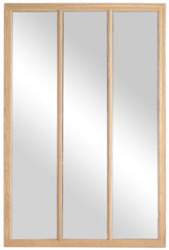Block & Chisel rectangular oak frame mirror