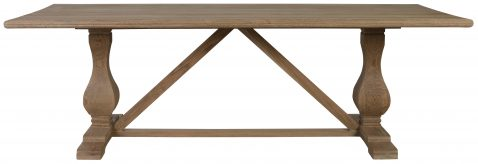 Block & Chisel rectangular dining table with vintage oak finish