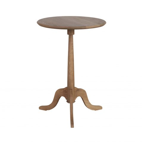 block and chisel solid oak side table