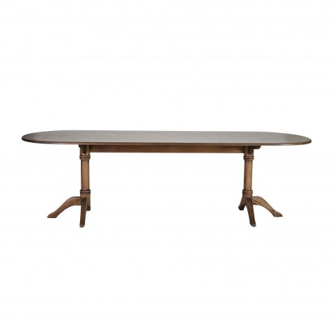 WHITTAKER DINING TABLE IN SOLID ANTIQUE WEATHERED OAK