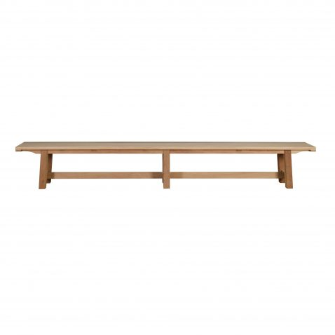 block and chisel outdoor bench