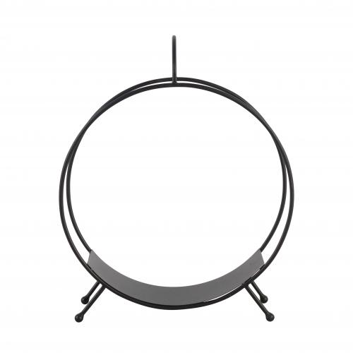 round metal firewood holder