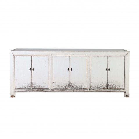 white lacquered chinese sideboard
