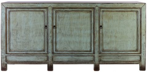 Block & Chisel green wooden sideboard
