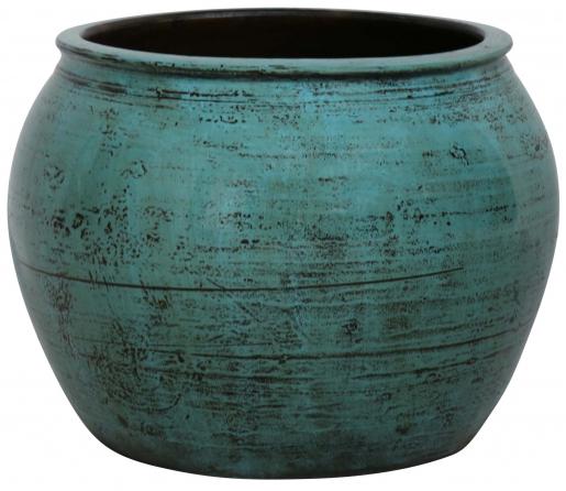 Block & Chisel round turquoise decorative pot