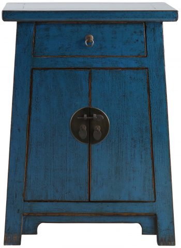 Block & Chisel cobalt wooden cabinet