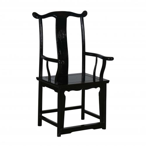 Black asian inspired chair