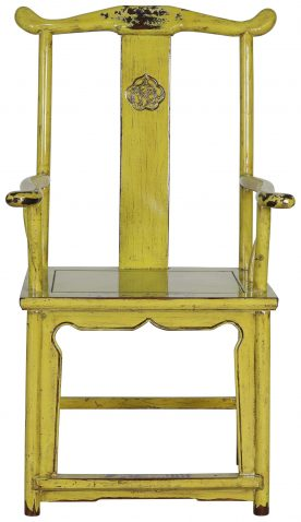 Block & Chisel lime wooden armchair