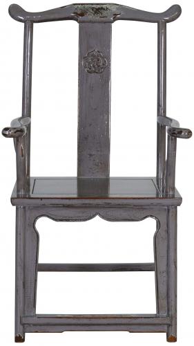 Block & Chisel grey wooden armchair