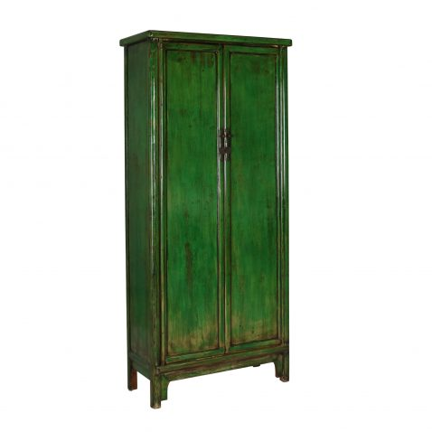 Green tall asian inspired cabinet