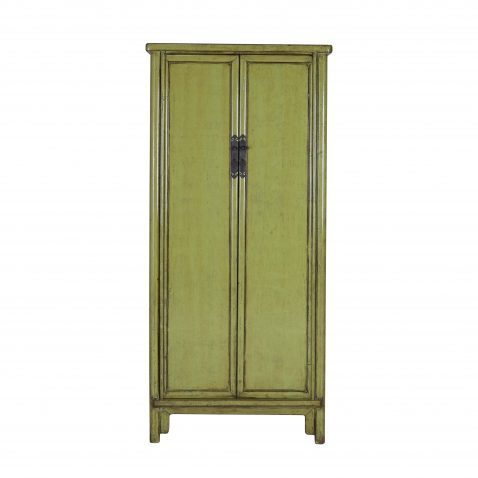 Green painted 2 door chinese cabinet