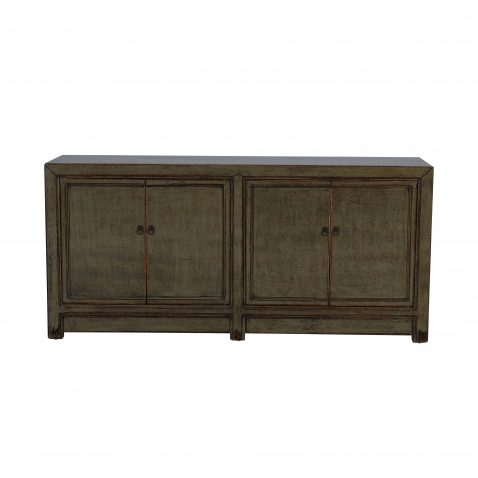 amry green 4 door painted chinese sideboard