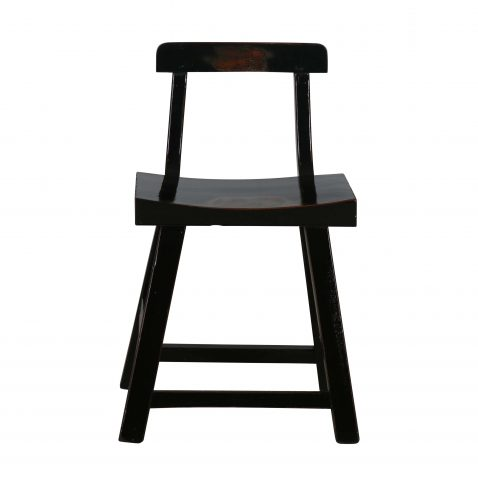 black lacquered asian inspired chair